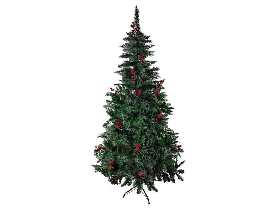 Ель новогодняя искусственная Christmas (6056-2) 1.8 м с шишками и рябиной