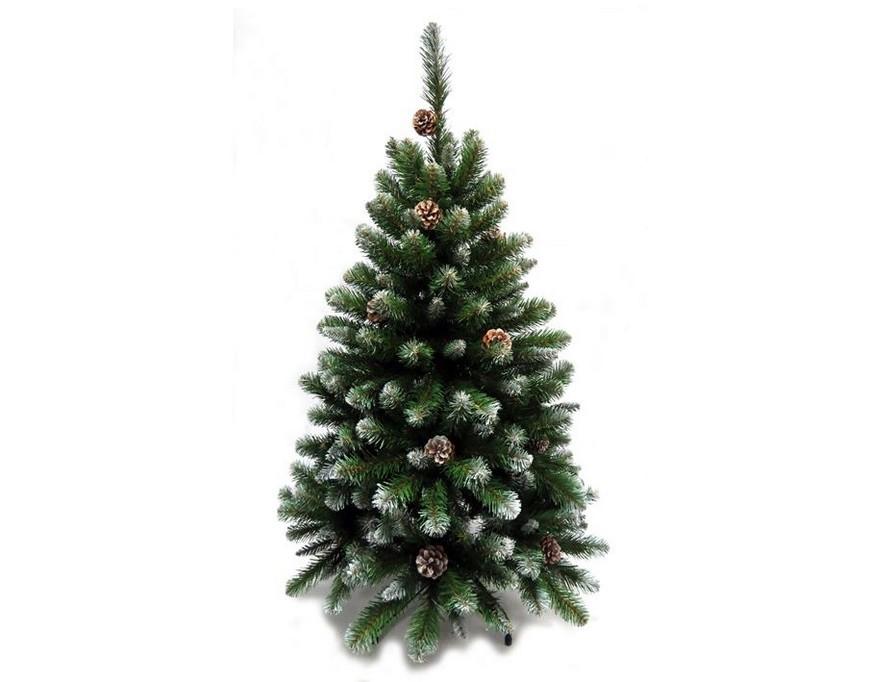Triumph Tree Ель Императрица с шишками заснеженная, 120 см